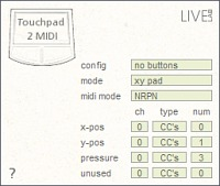 touchpad2midi screenshot